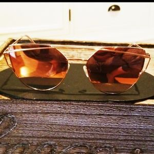 Accessories - Double Rim Mirrored Glasses
